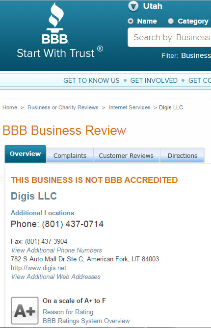 Digis-Internet-BBB-A-Plus-Grade